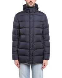 Herno Padded Hooded Jacket - Blue