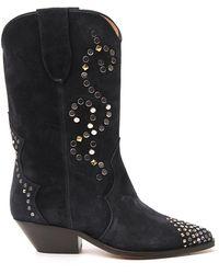 Isabel Marant Duerto Cowboy Boots - Black