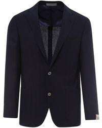 Corneliani Virgin Wool Blazer - Blue