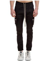 Rick Owens Phlegathon Mastodon Cargo Pants - Black