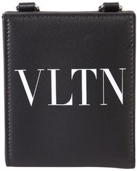 Valentino Vltn Coin Purse - Black