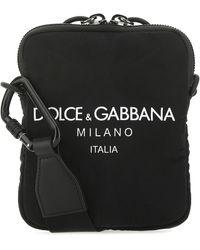 Dolce & Gabbana Logo Print Crossbody Bag - Black