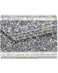 Jimmy Choo Candy Glitter Clutch Bag - Metallic