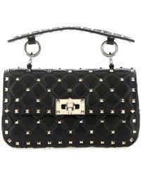 Valentino Garavani Valentino Garavani Micro Rockstud Spike Nappa Leather Bag - Black
