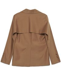 Matériel Single-breasted Tailored Blazer - Natural