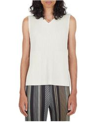 Homme Plissé Issey Miyake Pleated Tank Top - White