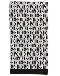 Dolce & Gabbana Monogram Towel - Black