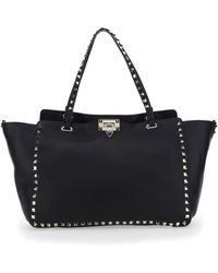 Valentino Garavani Rockstud Medium Tote Bag - Black