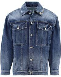 Givenchy 4g Button Denim Jacket - Blue