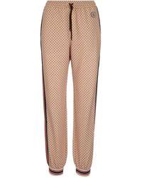 Gucci Interlocking G Printed Pants - Natural