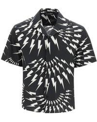 Neil Barrett Crazy Thunderbolts Short Sleeves Shirt - Multicolor