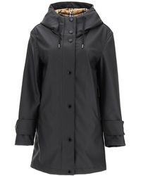 Burberry Vintage Check Lined Showerpoof Coat - Black