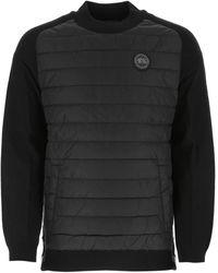 Canada Goose Hybridge Knit Reversible Pullover - Black