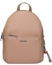 Liu Jo Logo Plaque Backpack - Brown