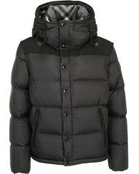 Burberry Detachable Sleeve Hooded Puffer Jacket - Black