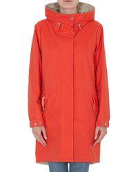 Moorer Hooded Coat - Orange