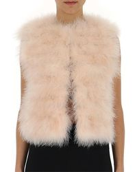 RED Valentino Fluffy Cropped Vest - Pink
