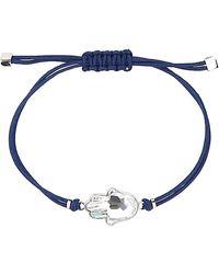 Swarovski Power Hamsa Bracelet - Blue