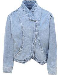 Isabel Marant Cropped Denim Jacket - Blue
