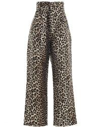 Ganni Crispy Jacquard Pants - Multicolor