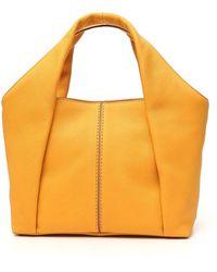 Tod's Shirt Small Shopping Bag - Yellow