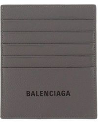 Balenciaga Logo Card Holder - Gray