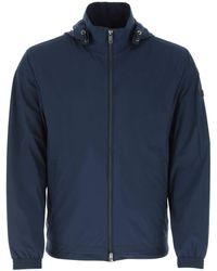 Z Zegna Hooded Windbreaker Jacket - Blue