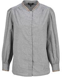 A.P.C. Patty Mandarin Collar Shirt - Grey