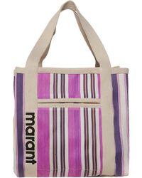 Isabel Marant Warden Striped Shopping Bag - Purple