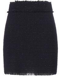 Pinko Tweed Mini Skirt - Black