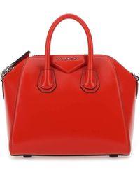 Givenchy Red Leather Mini Antigona Handbag Nd