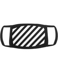 Off-White c/o Virgil Abloh Diagonal Striped Face Mask - Black