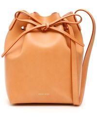 Mansur Gavriel Mini Bucket Bag - Orange