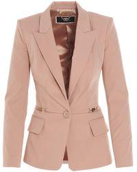 Elisabetta Franchi Other Materials Blazer - Pink