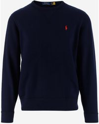 Polo Ralph Lauren Logo Crewneck Sweatshirt - Blue