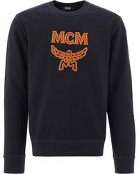 MCM Logo Crewneck Sweatshirt - Black