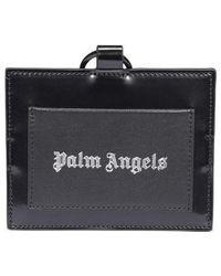 Palm Angels Logo Neck Cardholder - Black
