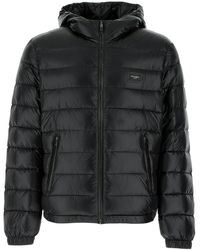Dolce & Gabbana Padded Hooded Jacket - Black