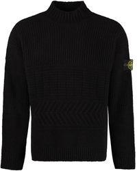 Stone Island Wool Blend Pullover - Black