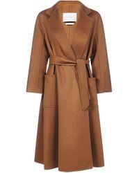 Max Mara Labbro Belted Coat - Brown