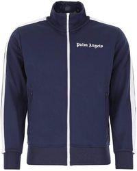 Palm Angels Logo Printed Track Jacket - Blue