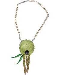 Maison Margiela Fresh Market Pin Necklace - Green