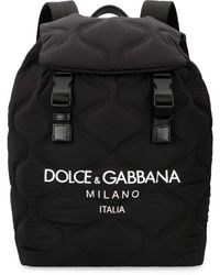 Dolce & Gabbana - Backpack With Logo Print - Lyst