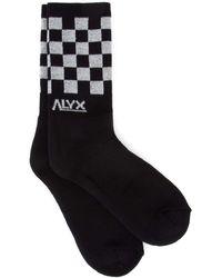 1017 ALYX 9SM Embroidered Socks - Black