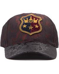 Dolce & Gabbana - Logo Patch Jacquard Print Baseball Cap - Lyst