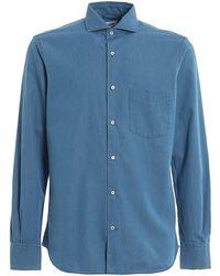 Aspesi Classic Denim Shirt - Blue