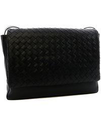 Bottega Veneta Woven Shoulder Bag - Black