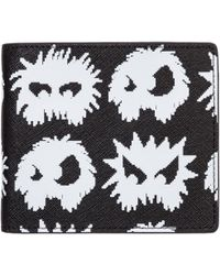 984ea54979202 Alexander McQueen Doodle Print Leather Billfold Wallet in White for ...