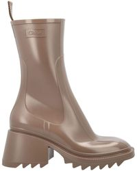 Chloé Betty Rain Boots - Natural