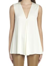 Theory - Flared Sleeveless Top - Lyst